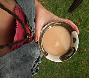 Coco Milk Chai Holding